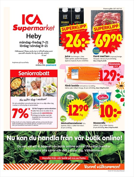 ica supermarket fridhemsplan erbjudanden