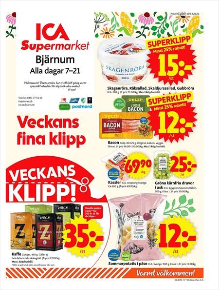 ica supermarket sölvesborg erbjudanden
